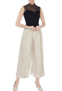 beige-layered-lace-culotte-pants