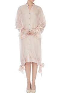 beige-organza-lace-balloon-dress