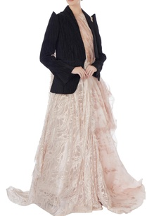 dull-pink-dramatic-flared-lace-gown-with-attached-jacket