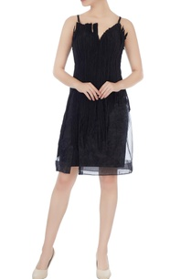 black-deconstructed-organdy-linen-midi-dress