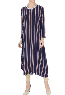 navy-blue-cream-stripe-printed-long-tunic