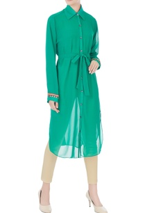 green-georgette-tunic-with-tie-up-belt-inner