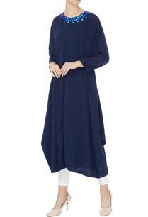 blue-crepe-silk-embroidered-neckline-kurta