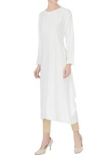 white-crepe-silk-bead-embroidered-neckline-kurta