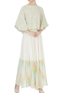 light-green-georgette-beaded-embellishment-cape