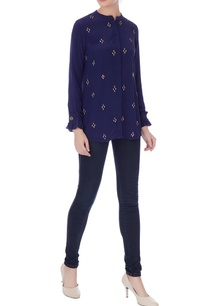 navy-blue-crepe-embroidered-shirt