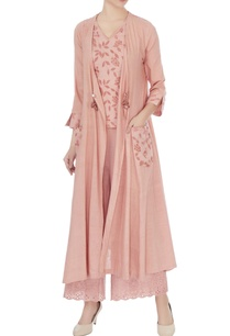 old-rose-cotton-embroidered-long-jacket-with-blouse-and-pants