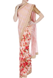 pink-floral-satin-linen-sari-with-unstitched-blouse