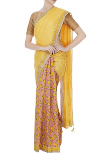 pink-yellow-raw-silk-embroidered-border-sari-with-unstitched-blouse