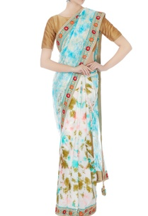 blue-satin-lace-tie-dye-sari-with-unstitched-blouse