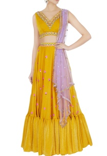 yellow-sandwash-satin-embroidered-lehenga-with-dupatta-set
