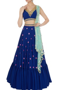 navy-blue-sandwash-satin-embroidered-lehenga-with-dupatta