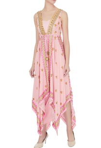 pink-crepe-satin-embroidered-draped-skirt-with-cape