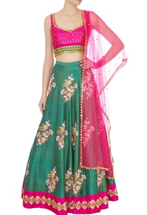 pink-green-embroidered-lehenga-with-dupatta-set