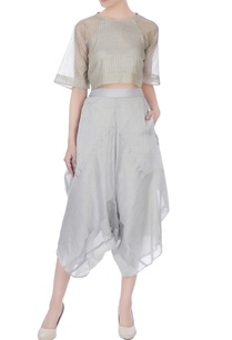icy-blue-chanderi-silk-stripe-layered-cropped-pants