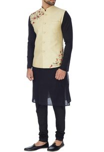 beige-art-khadi-floral-embroidered-nehru-jacket