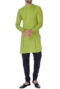 lime-green-cotton-silk-kurta