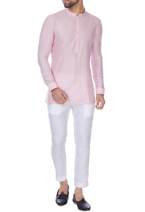 pink-cotton-silk-short-kurta