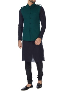 bottle-green-nehru-jacket