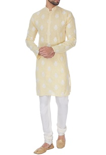 pale-yellow-cotton-kurta-with-embroidery