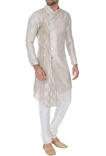 ivory-linen-silk-kurta-with-draped-attached-dupatta