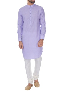 light-purple-cotton-linen-pathani-kurta