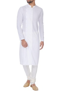 white-cross-over-button-down-kurta