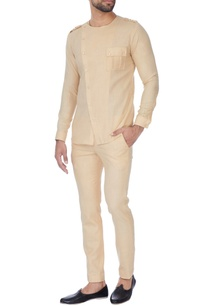 beige-cross-over-shirt-with-pants