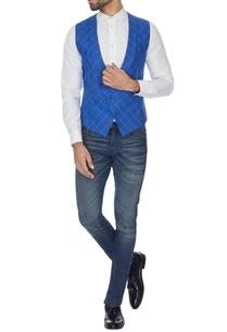 blue-check-pattern-waistcoat