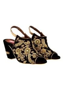 dark-brown-zardozi-embroidered-peep-toe-block-heels