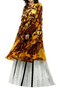 yellow-cotton-silk-grosgrain-printed-kurta