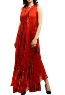 red-satin-wrap-around-asymmetric-maxi-dress