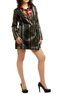 metallic-grey-organza-blazer