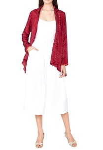 plum-silk-bandhani-shrug
