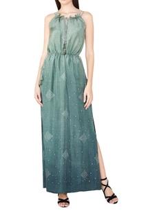 sage-silk-bandhani-maxi-dress