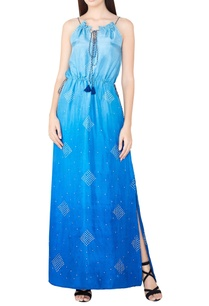 blue-silk-bandhani-maxi-dress