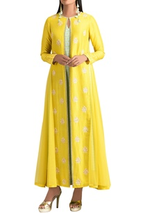 yellow-dupion-silk-jacket-set