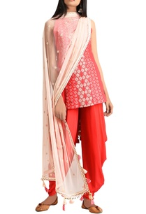 red-hand-embroidered-sleeveless-kurta-with-patiala-dupatta