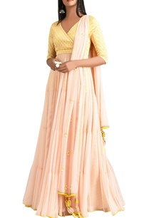 yellow-pink-anarkali-with-dupatta-churidar