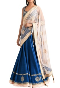 blue-raw-silk-kali-lehenga-set