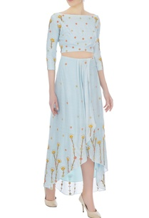 powder-blue-thai-silk-embroidered-blouse-with-skirt