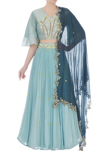 powder-blue-chiffon-chanderi-embroidered-blouse-with-skirt