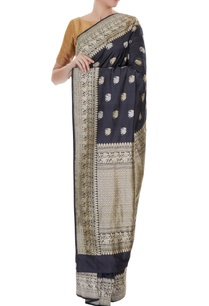 black-handwoven-pure-banarasi-silk-zari-elephants-saree