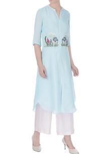 icy-blue-linen-silk-embroidered-kurta