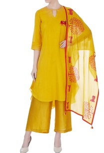 mustard-yellow-hand-embroidered-kurta-set