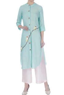 mint-blue-hand-embroidered-kurta