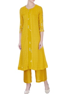 yellow-hand-machine-embroidered-mustani-jacket-kurta