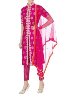 pink-gota-lace-kurta-set
