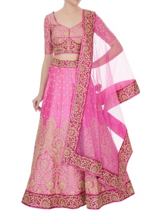 rose-pink-raw-silk-zari-zircon-lehenga-with-blouse-dupatta