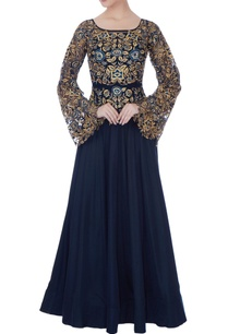 navy-blue-net-gown
